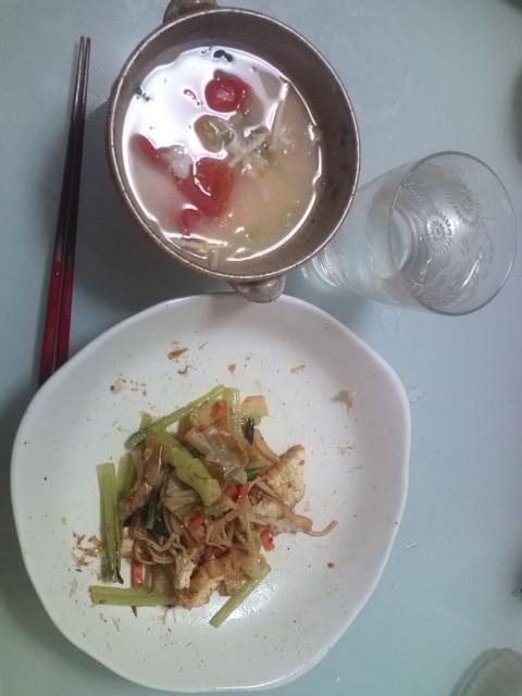 ちゃんと食べました。